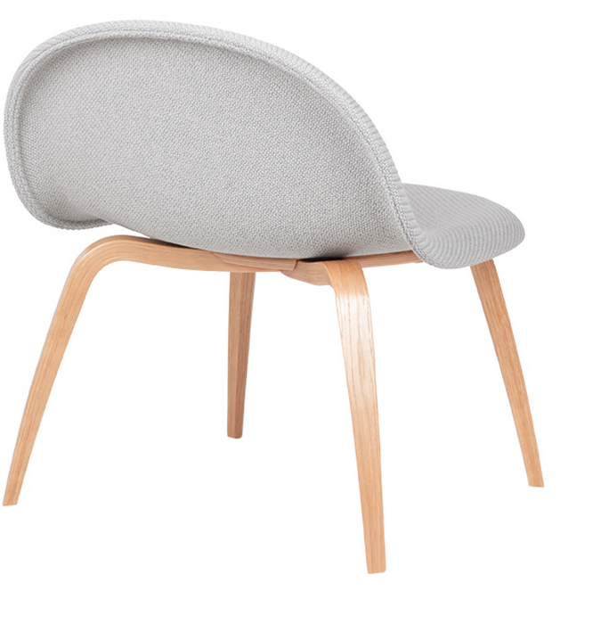 3D Lounge Chair w/ Wood Base Fully Upholstered by Gubi