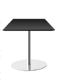 Gubi A21 - A22 (106,5 cm Height) Square Table