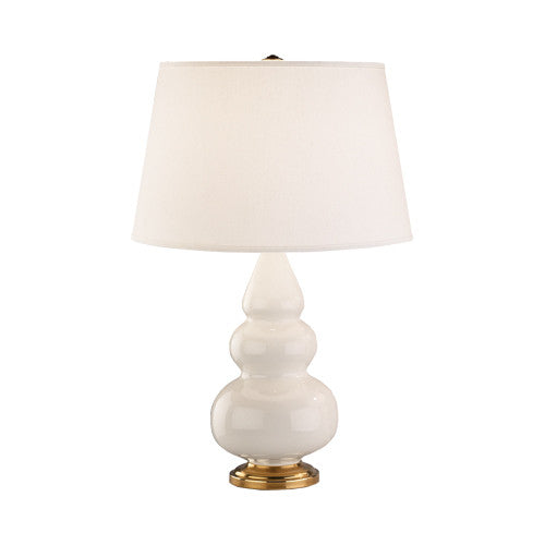 Triple Gourd Accent Lamp with Pearl Dupioni Shade by Robert Abbey