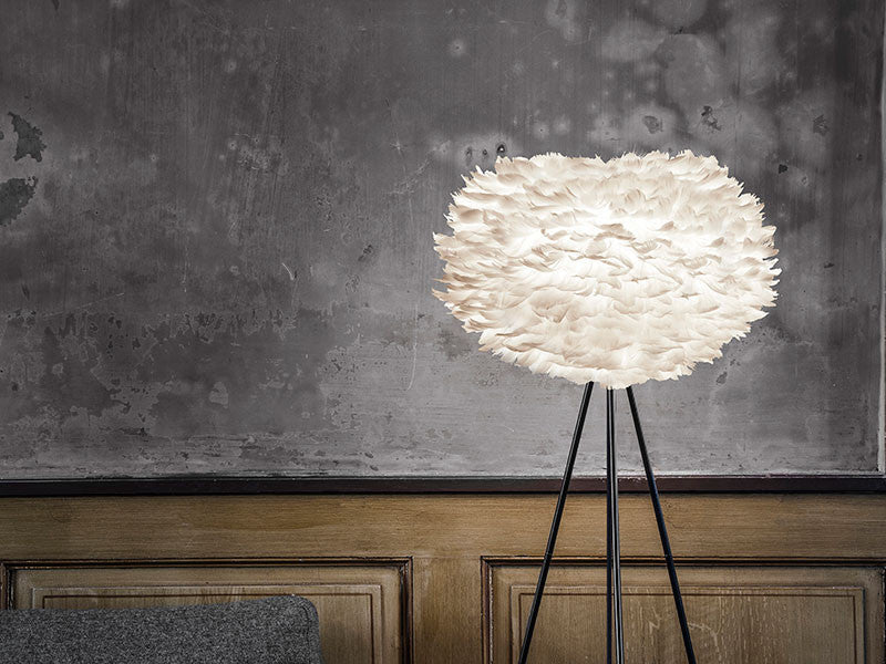 Eos White Feather Floor Lamp by VITA Copenhagen
