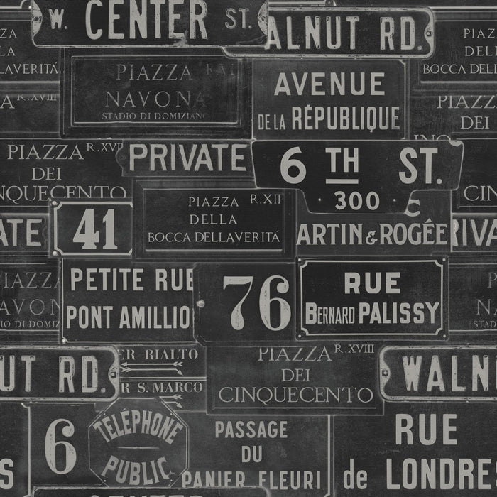 Vintage Signs Wallpaper by Mindthegap