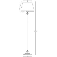 Robert Abbey Wilton Club Floor Lamp