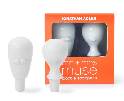 Mr. & Mrs. Muse Bottle Stopper by Jonathan Adler