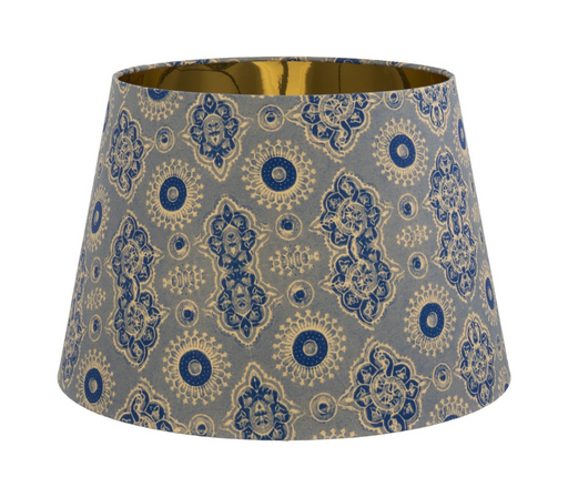 Ajrak Grey Table / Floor Cone Shade by Mindthegap
