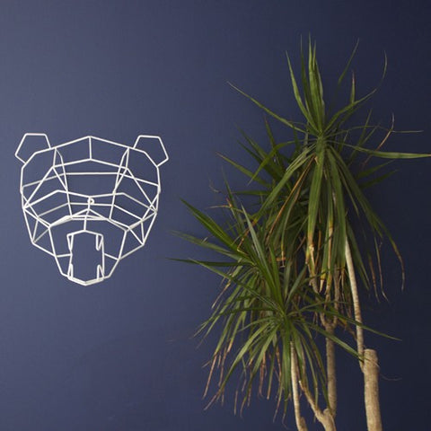 Polar Bear Geometric Animal Head by Bend Goods (Made in the USA)