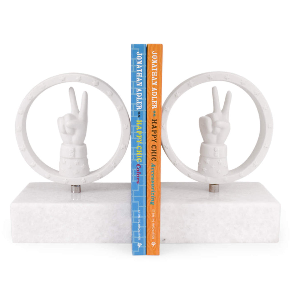 Peace Bookend Set by Jonathan Adler