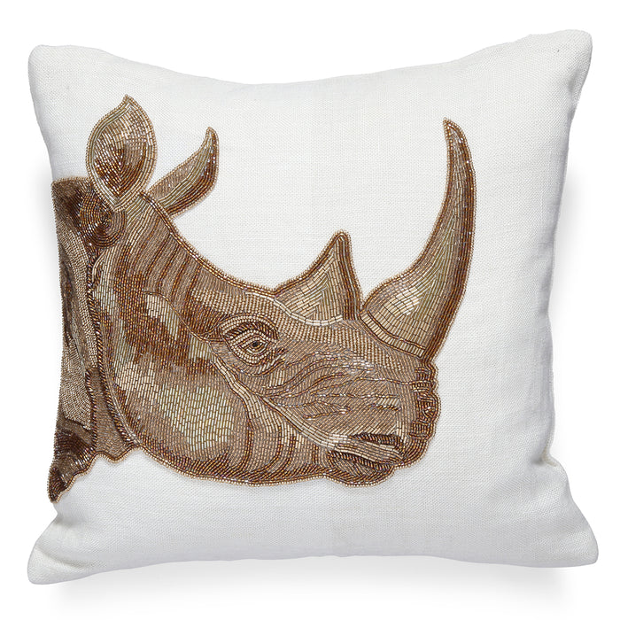 Botanist Rhino Pillow by Jonathan Adler