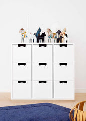 Snow Series of 8, 9 and 12  Drawers by Asplund