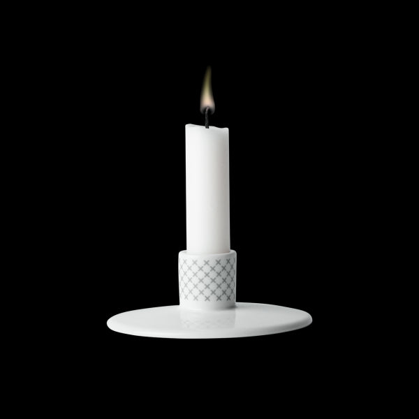 Candle Holder Grey Stitches by Menu