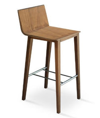 Corona Bar/Counter Wood Stool by Soho Concept