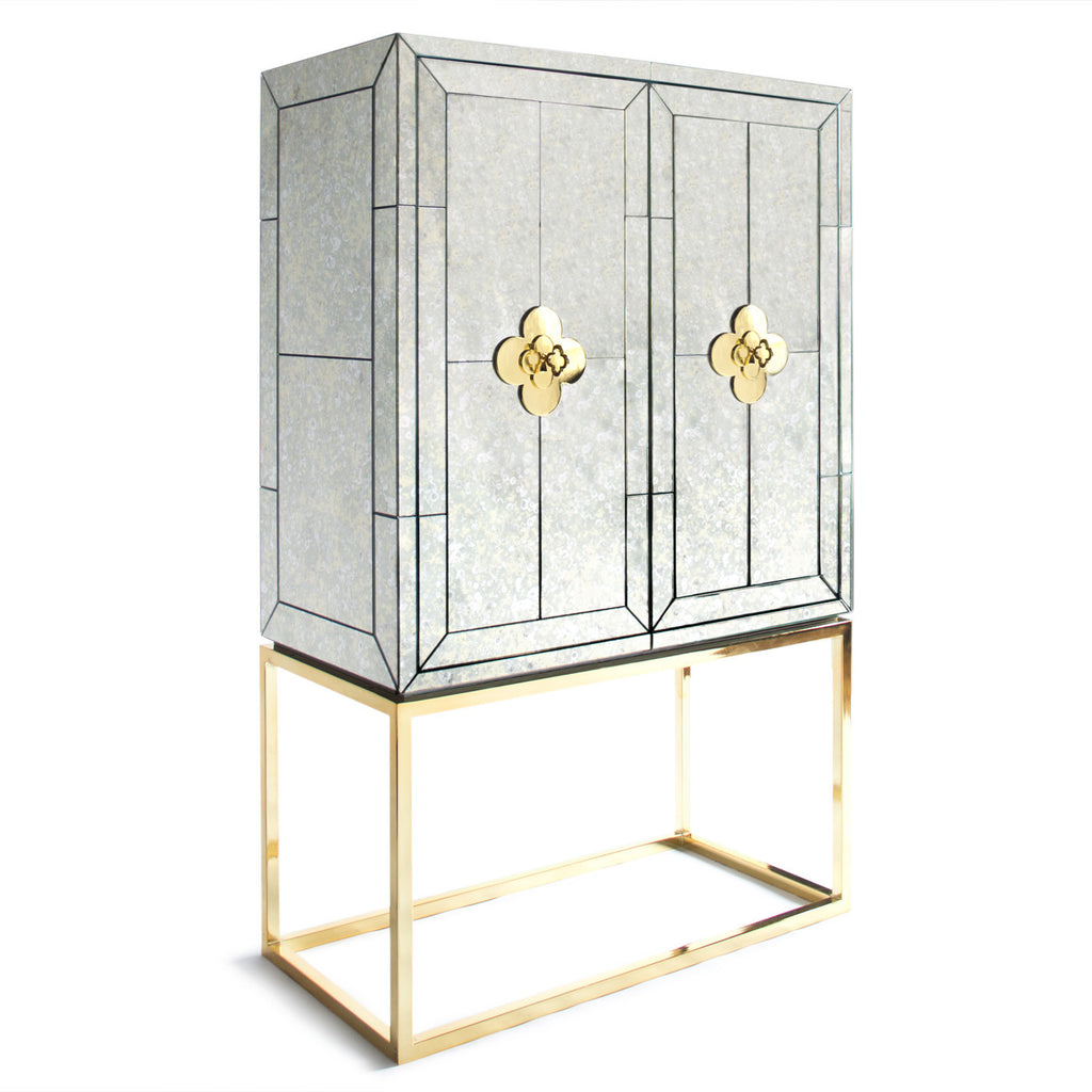 Jonathan Adler Delphine Mirrored Bar Unit