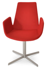 Eiffel 4 Star Swivel Arm Chair by Soho Concept