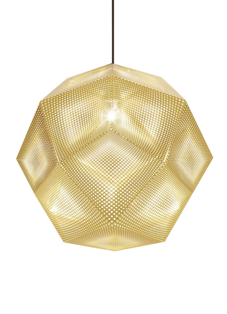 Etch Pendant Brass 50cm by Tom Dixon