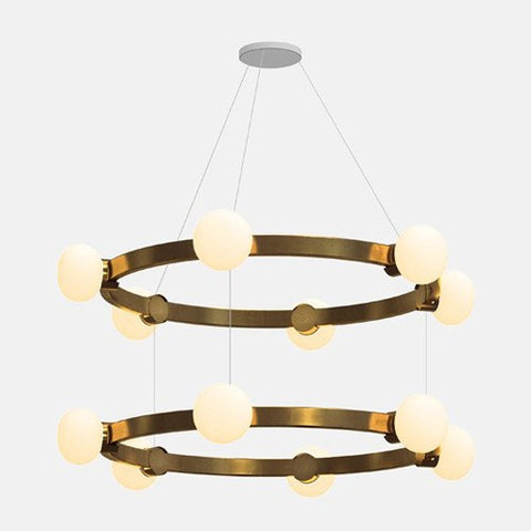 Cinema 2-Tier Chandelier by Rich Brilliant Willing (Made in the USA)