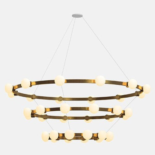 Cinema 3-Tier Chandelier by Rich Brilliant Willing (Made in the USA)