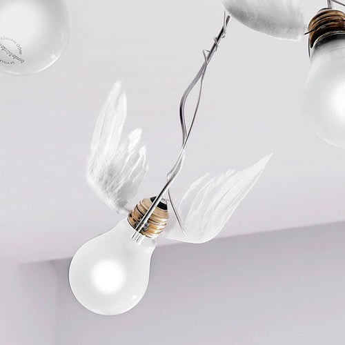 birdie 39 s nest ceiling light by ingo maurer the modern shop. Black Bedroom Furniture Sets. Home Design Ideas