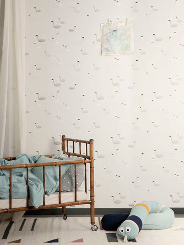Swan Wallpaper by Ferm Living