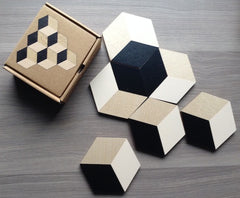 Table Tiles Coasters by Areaware