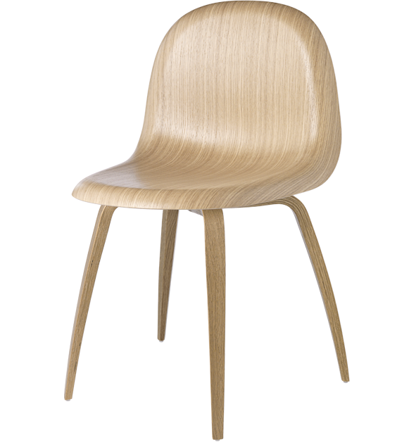 Gubi 5 (Unupholstered) Wood chair by Gubi