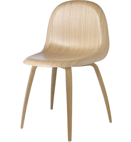 3D Wood Dining Chair Unupholstered by Gubi