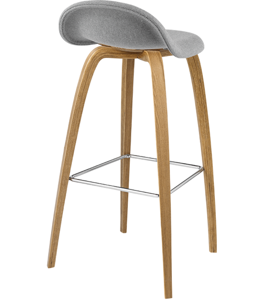 3d Wood Base Counter Stool Fully Upholstered By Gubi The