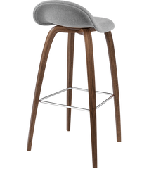 3D Wood Base Counter Stool Fully Upholstered by Gubi