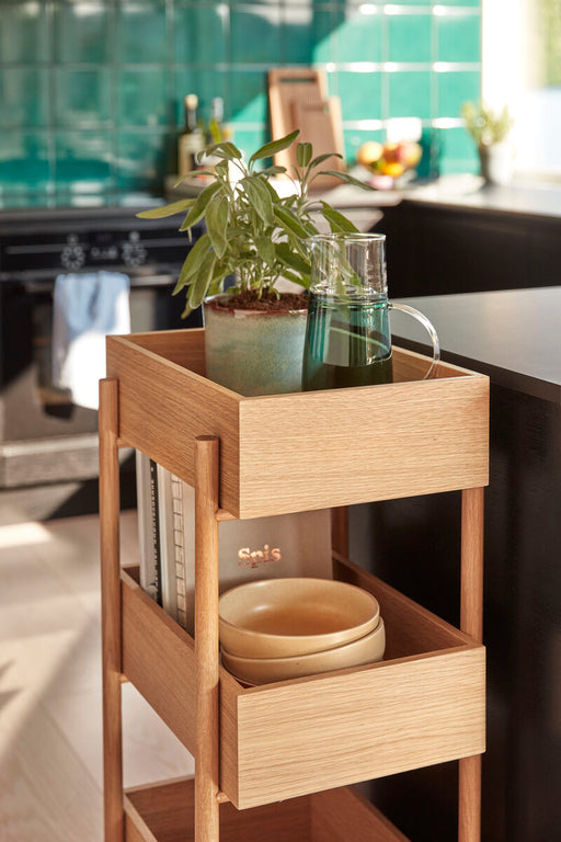 Oak Console Table w/ 3 Shelves, FSC by Hübsch