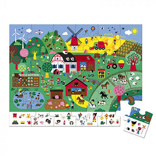24 pc Observation Puzzle - Farm by Janod