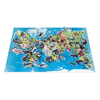 200 pc 3D Educational Puzzle Endangered Animals by Janod
