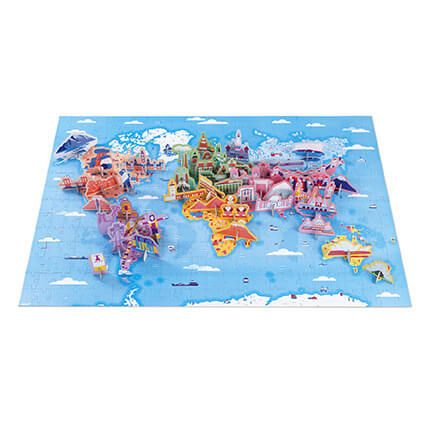 350 pc 3D Educational Puzzle World Curiosities by Janod