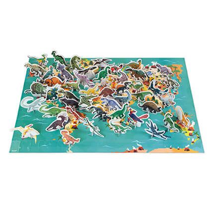 200 pc 3D Educational Puzzle The Dinosaurs by Janod