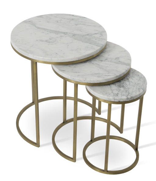 Alexy Marble Nesting End Table by Soho Concept