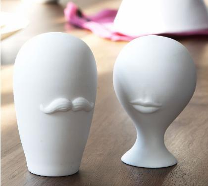 Mr. & Mrs. Muse Salt & Pepper Shakers by Jonathan Adler