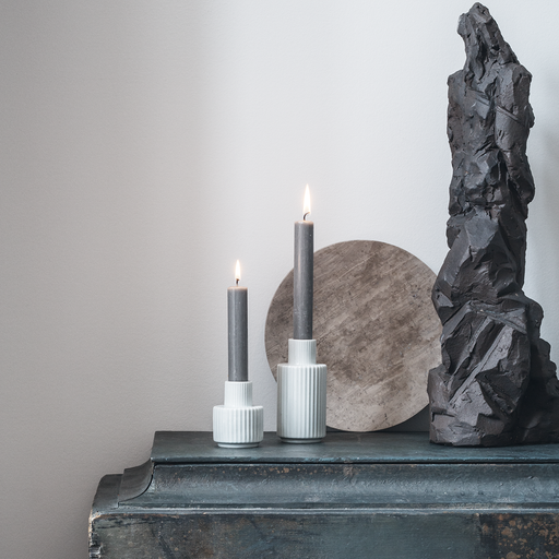 Taper Candle Holder by Lyngby Porcelæn