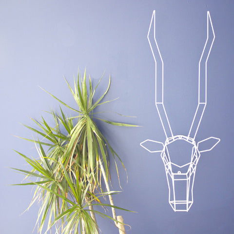 Gazelle Geometric Animal Head by Bend