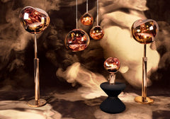 Melt Floor Lamp Copper by Tom Dixon