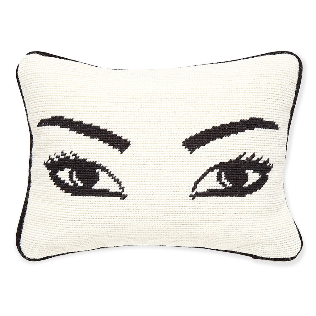 Jonathan Adler Eyes Needlepoint Pillow
