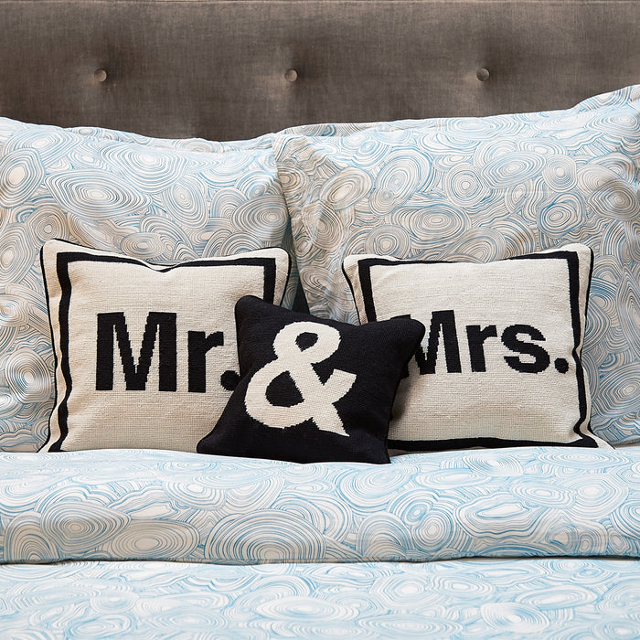 """Mr."" Needlepoint Throw Pillow by Jonathan Adler"