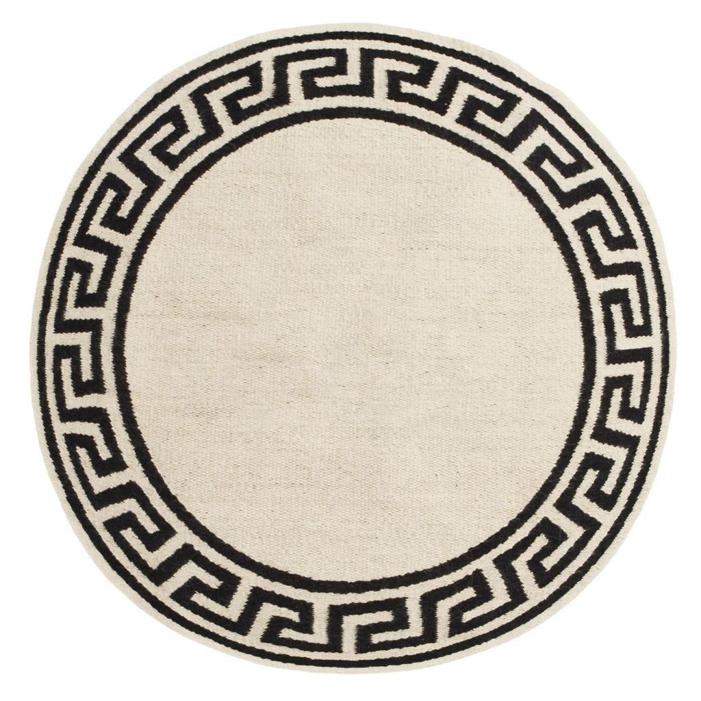 Picture of: Greek Key Border Round Rug By Jonathan Adler The Modern Shop