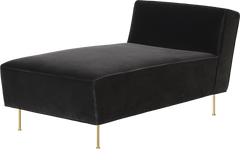 Modern Line Chaise Lounge by Gubi