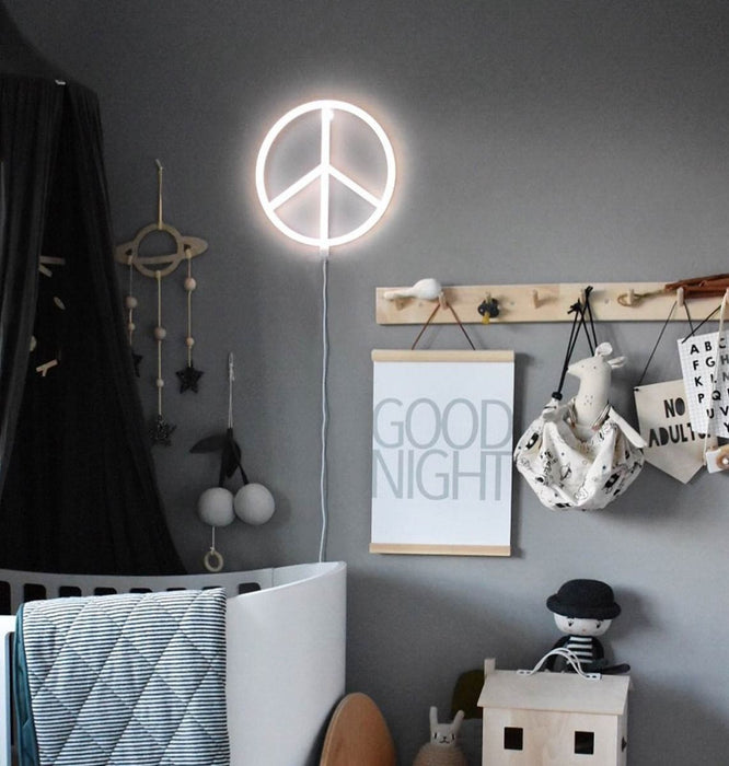 Neon Peace Light by A Little Lovely Company