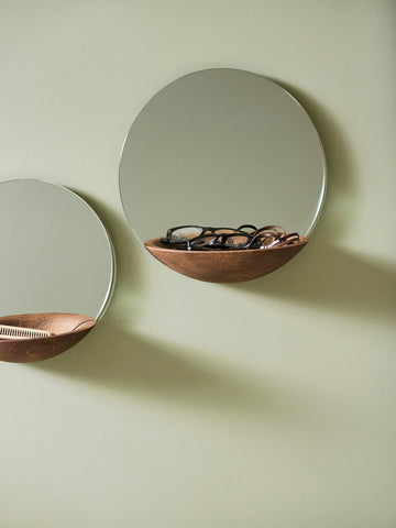 Pocket Mirror with Shelf by Woud Denmark