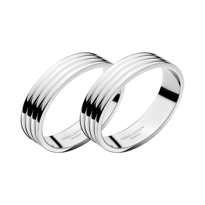 Bernadotte Set of Two Napkin Rings by Georg Jensen