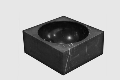 PK-600 Nero Marquina Marble Bowl by Architectmade