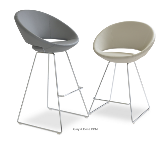 Crescent Bar/Counter Wire Stool by Soho Concept