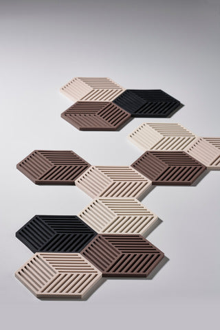 Hexagon and Triangles Trivets by Zone Denmark