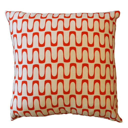 Barkcloth Throw Pillows (Fabric by Jessica Jones) for Hip Haven
