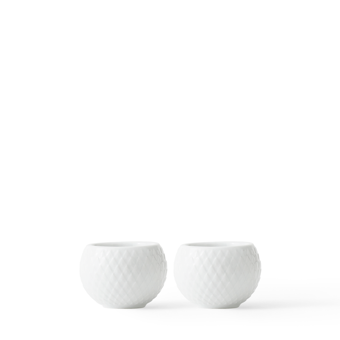 Candle Holder for Tealights (Set of 2) by Lyngby Porcelæn