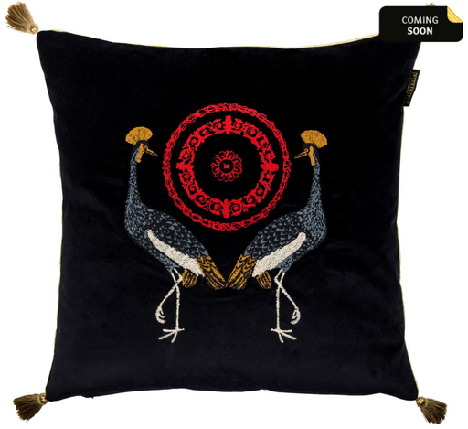 Birds of the Garden Cushion by Mindthegap