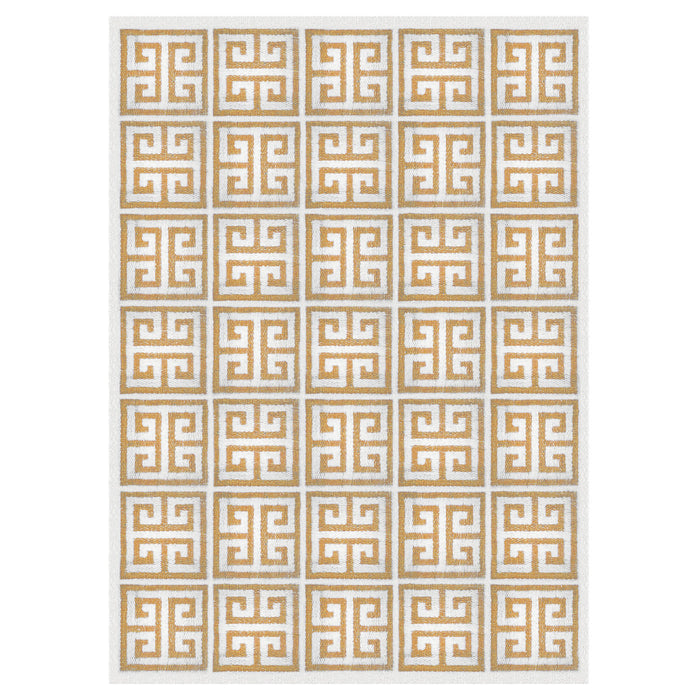 Greek Key Camel Rug by Jonathan Adler